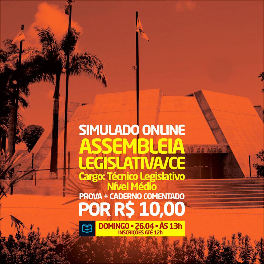 5° SIMULADO ONLINE ASSEMBLEIA LEGISLATIVA - EM PDF