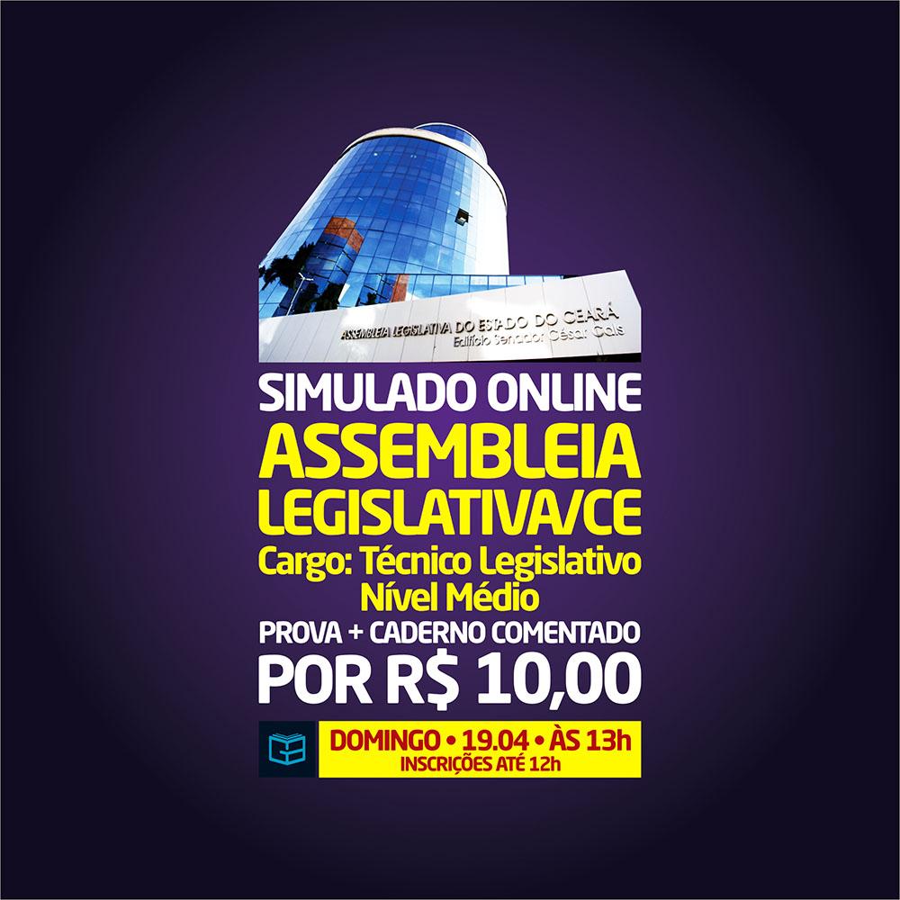 4° SIMULADO ONLINE ASSEMBLEIA LEGISLATIVA - EM PDF