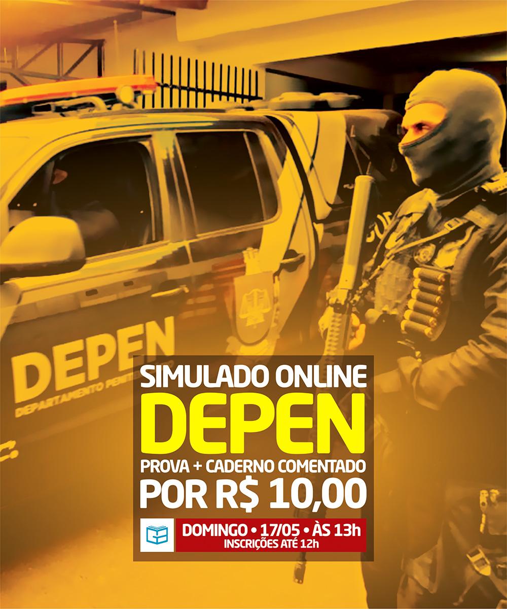 1° SIMULADO ONLINE DEPEN - EM PDF