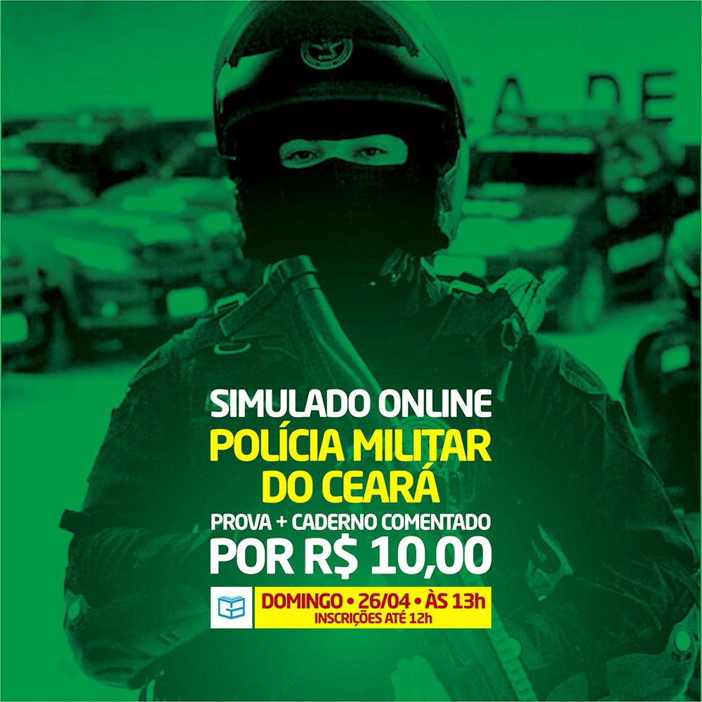 4° SIMULADO ONLINE POLÍCIA MILITAR - EM PDF