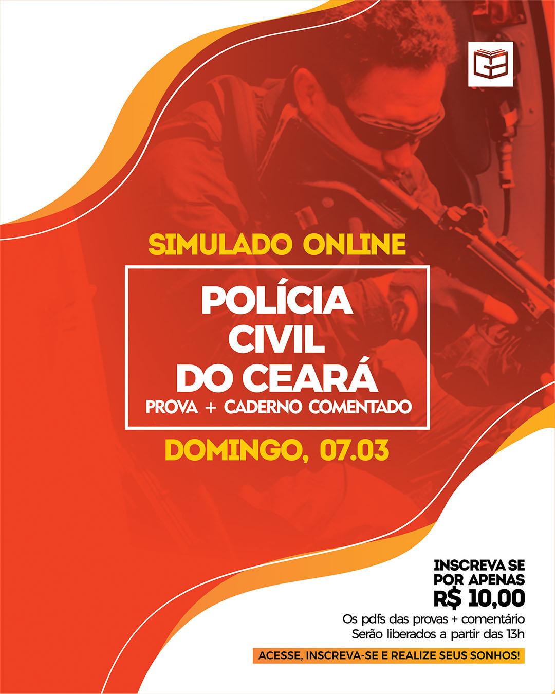 1° SIMULADO ONLINE POLÍCIA CIVIL (2021) - EM PDF