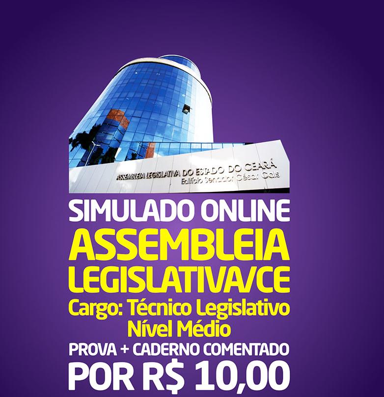 2° SIMULADO ONLINE ASSEMBLEIA LEGISLATIVA - EM PDF