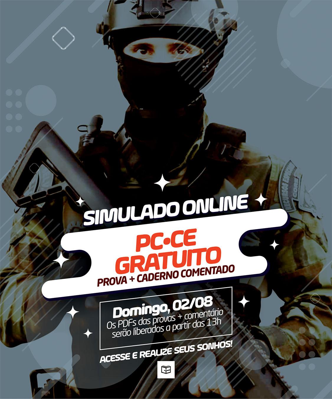 1° SIMULADO GRATUITO ONLINE POLÍCIA CIVIL / CE - EM PDF