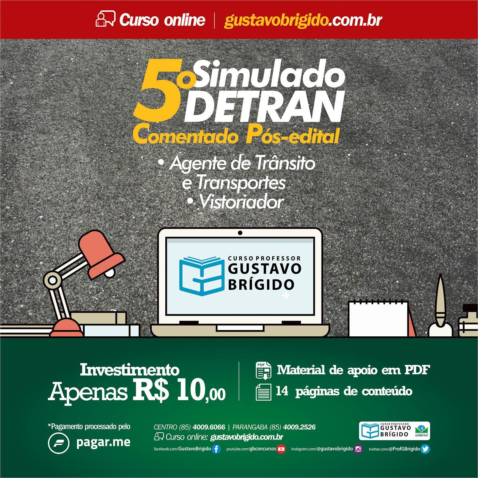 5° SIMULADO DETRAN - EM PDF