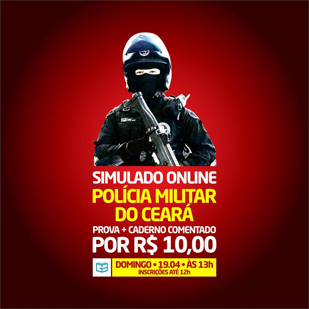 3° SIMULADO ONLINE POLÍCIA MILITAR - EM PDF