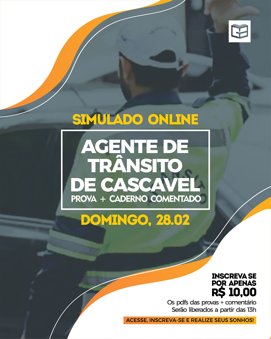 1° SIMULADO ONLINE AGENTE DE TRÂNSITO DE CASCAVEL - EM PDF