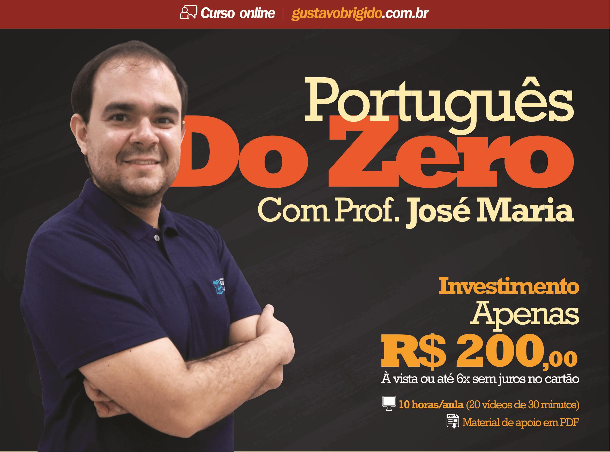 Português do Zero - Prof. José Maria