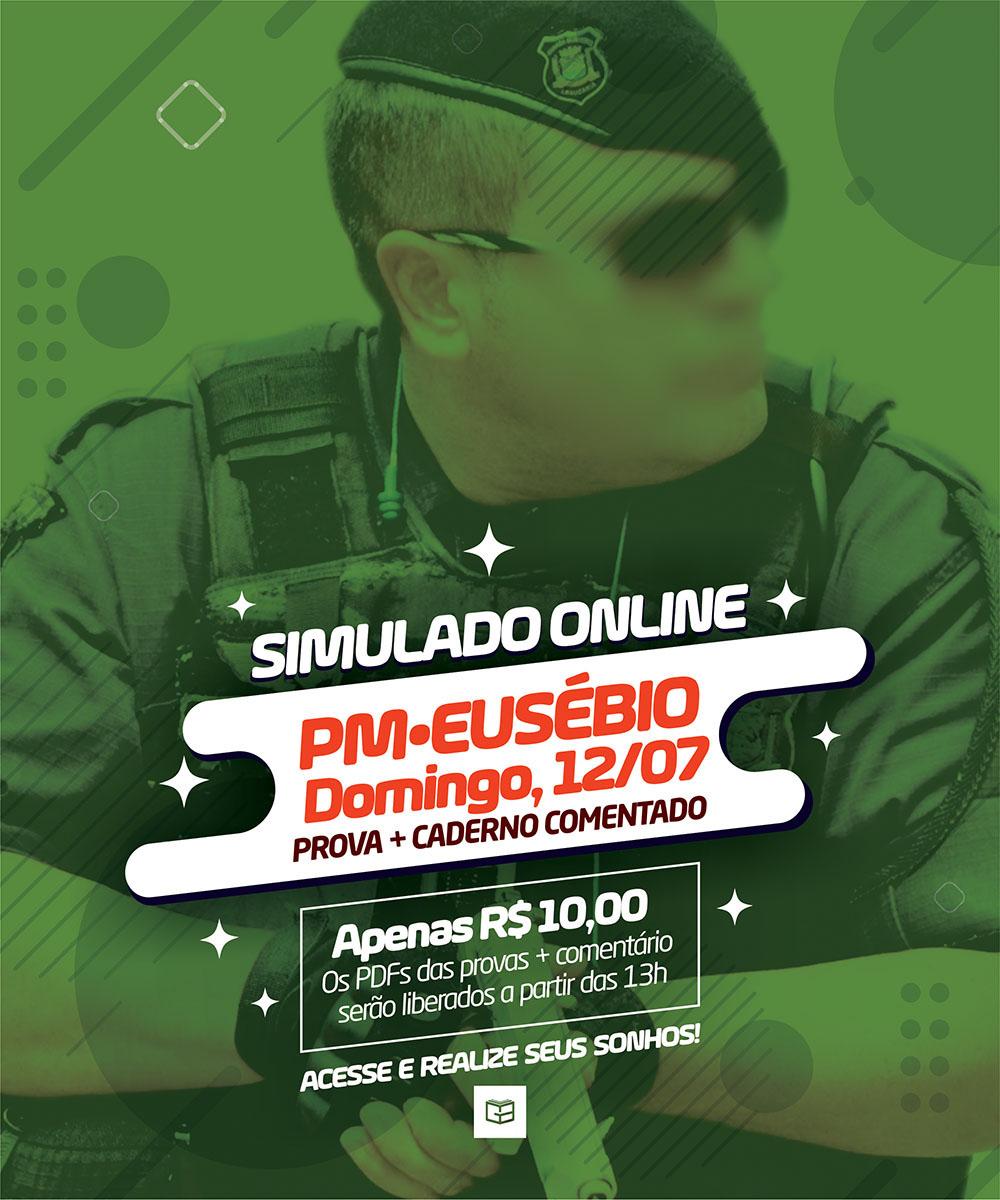 12° SIMULADO ONLINE POLÍCIA MUNICIPAL DE EUSÉBIO - EM PDF