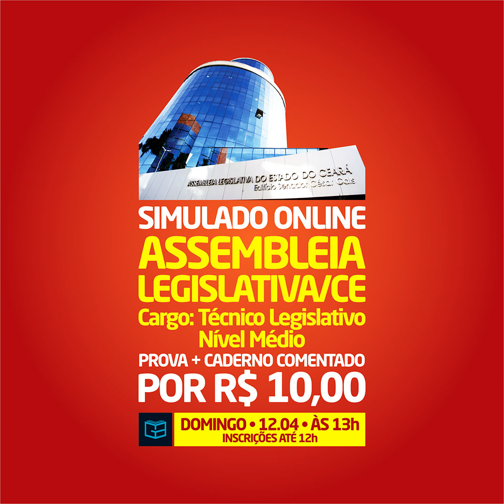 3° SIMULADO ONLINE ASSEMBLEIA LEGISLATIVA - EM PDF