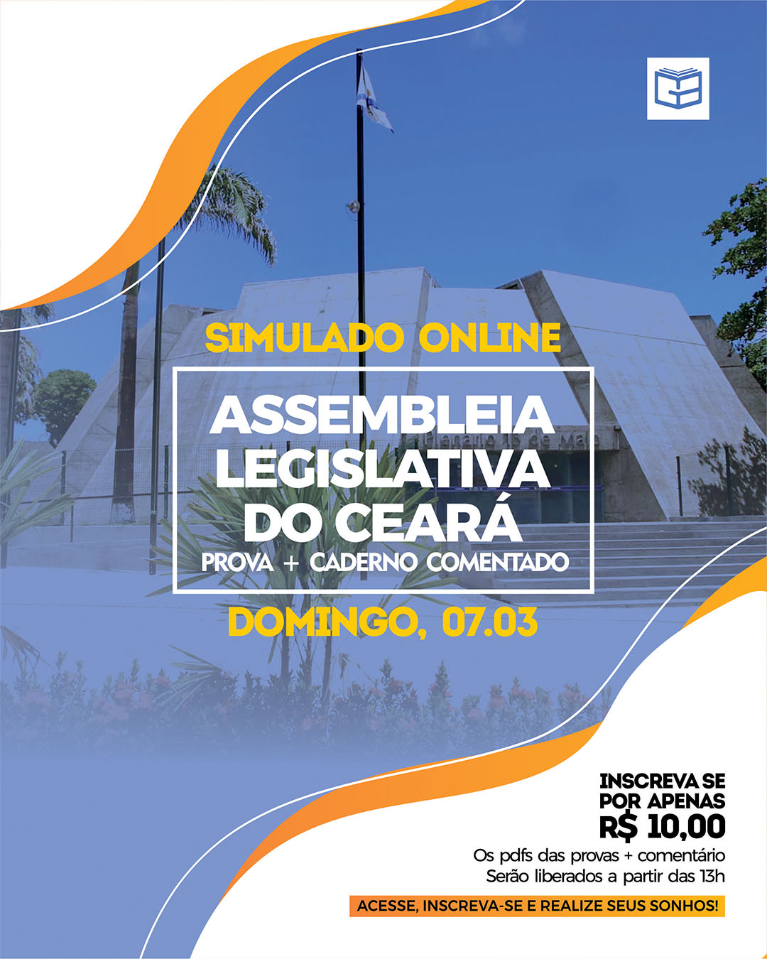 1° SIMULADO ONLINE ASSEMBLEIA LEGISLATIVA (2021) - EM PDF